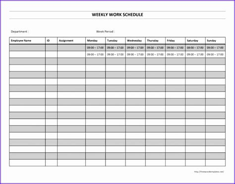 excel employee schedule template exceltemplates