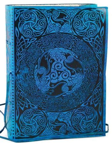 blue celtic leather bound journal