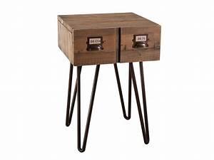 Table De Chevet Hauteur 70 Cm : excellent table de chevet hauteur table chevet bois metal with chevet hauteur 70 cm ~ Teatrodelosmanantiales.com Idées de Décoration