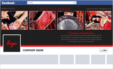 facebook timeline cover psd template  brand page design