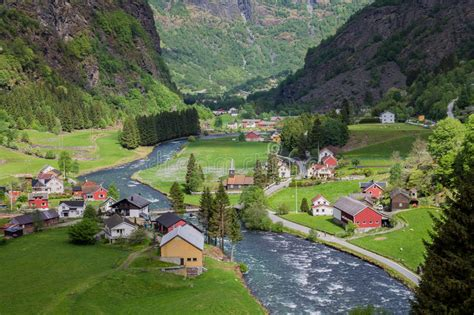 Flam Village Norway Stock Image Image Of Towers Church