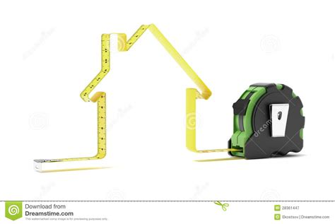 Home Design Game Tape Measure : Tape Measure In The Shape Of A House Royalty Free Stock
