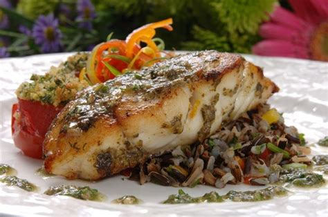 grouper baked seafood hogfish recipes fish dishes grilled herbs lemon