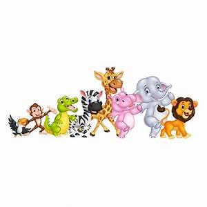 Stickers Animaux De La Jungle : sticker animaux jungle et savane africaine pour d co enfant ~ Mglfilm.com Idées de Décoration
