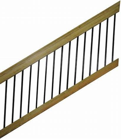 Stair Wood Section Treated Railing Rail Aluminum