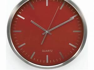 Conforama Deco Murale : horloge 30 cm clocky coloris rouge vente de horloge conforama ~ Melissatoandfro.com Idées de Décoration