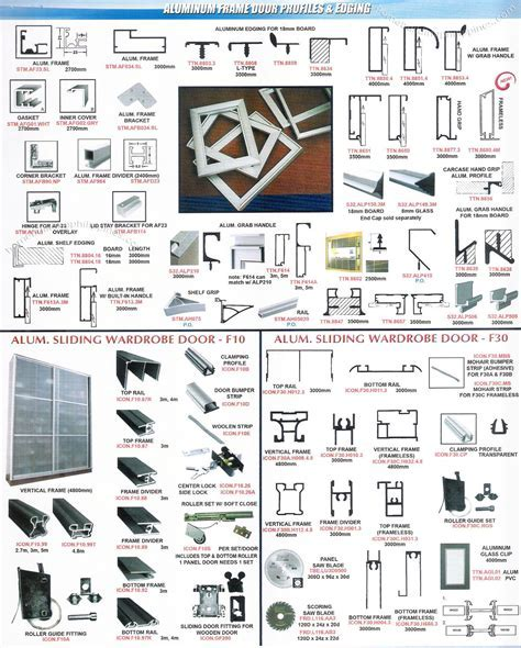 Aluminum Frame Door Profiles & Edging by Lexton Philippines