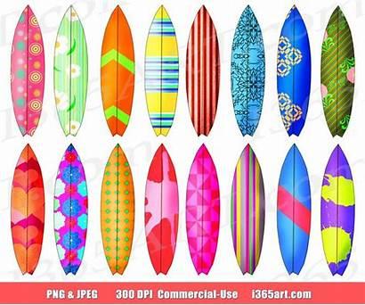 Surfboard Clip Clipart Surf Surfing Board Surfs