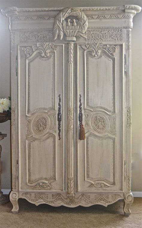 how to shabby chic a wardrobe antique shabby chic french armoire entertainment center wardrobe