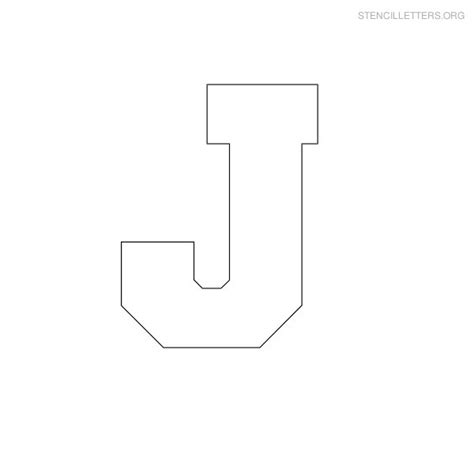 block letter stencils stencil letters j printable free j stencils stencil