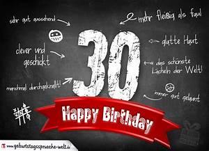 30 Dinge Zum 30 Geburtstag : komplimente geburtstagskarte zum 30 geburtstag happy birthday geburtstagsspr che welt ~ Bigdaddyawards.com Haus und Dekorationen