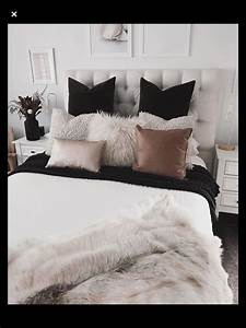 Bedroom, Inspo, Black, White, Pink