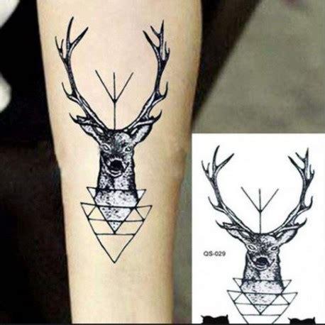 tatouage temporaire tete de cerf