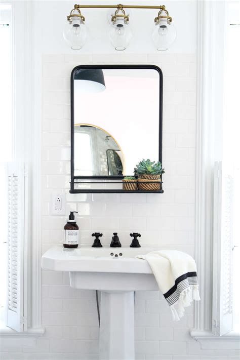 Fashioned Bathroom Mirrors by How To Hang A Bathroom Mirror On Ceramic Tile Apartment