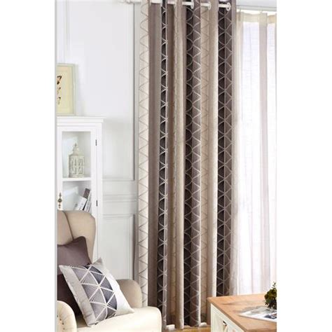 Note Bedroom Curtains by Black And Gray Geometric Jacquard Polyester Cotemporary