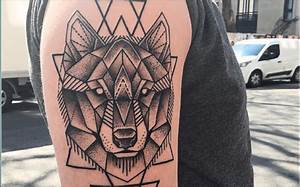 Tatouage Loup Geometrique : tatouage geometrique animaux voyage de mani re conome ~ Melissatoandfro.com Idées de Décoration