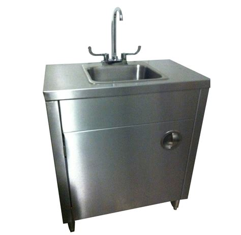 mobile kitchen sink stainless steel handwash sink with cold water 4183