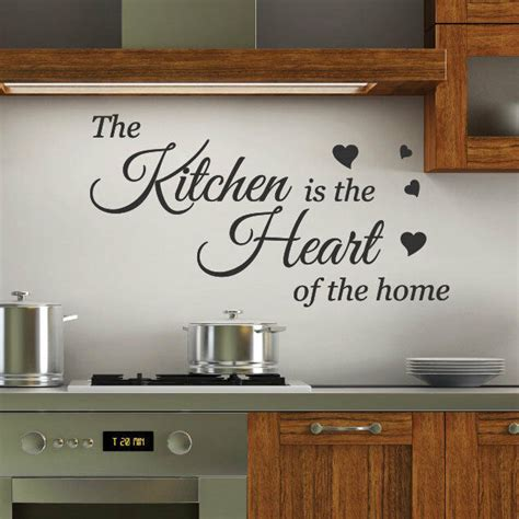 kitchen   heart wall quotes stickers wall decals wall