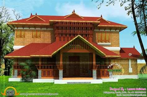 Kerala traditional home design - Kerala home design and