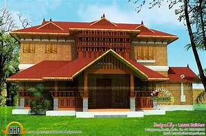 Kerala traditional home design and floor plans plus for Traditional home balcony design
