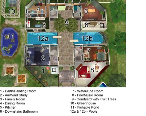 Sims 3 House Floor Plans by Sims Mansion Blueprints Studio Design Gallery Best