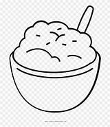Potato Coloring Potatoes Mashed Gravy Chip Cartoon Printable Clipart Transparent Template Sketch sketch template