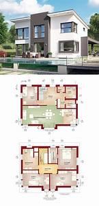 Moderne Häuser Mit Grundriss : moderne stadtvilla mit pultdach haus evolution 148 v9 von bien zenker einfamilienhaus ~ Bigdaddyawards.com Haus und Dekorationen