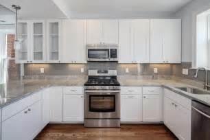 gray white counter tops white cabinets kitchen ideas grey white white