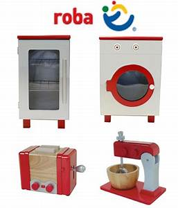Roba wooden play kitchen kitchen washing machine fridge for Roba spielküche