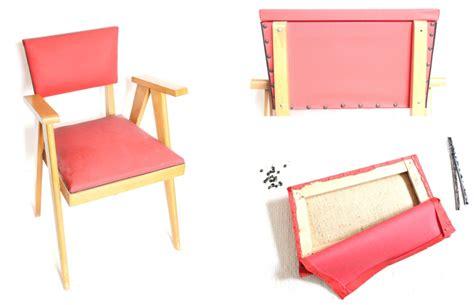 tapisser une chaise diy retapisser une chaise
