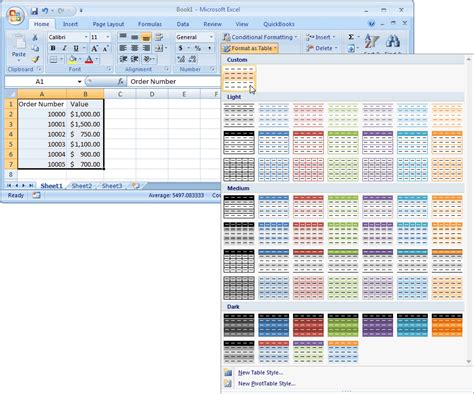 list style color ms excel 2007 automatically alternate row colors two