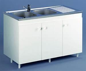 Meuble Sous Evier 120 : meuble de cuisine sous vier azur aquarine pro ~ Nature-et-papiers.com Idées de Décoration