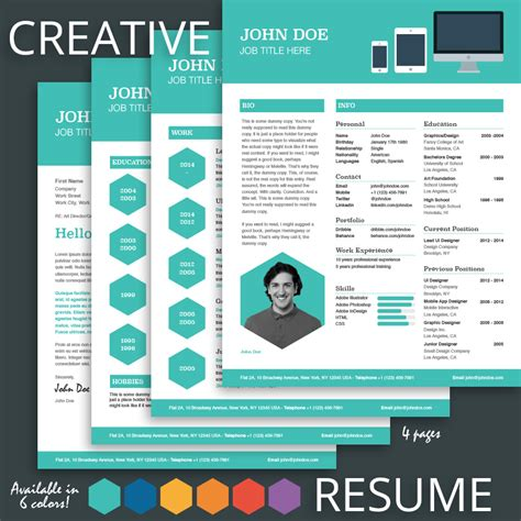 Creative Resume Templates by Creative Resume Template For Pages Mactemplates