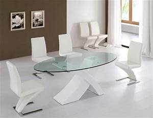 modern-glass-dining-table-round : Luxury Modern Glass