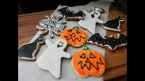 How To Make Halloween Cookies Youtube
