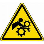 Entanglement Label Rotating Arm Gears Safetysign Warning
