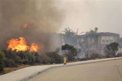 video  fires burn  carlsbad camp pendleton long