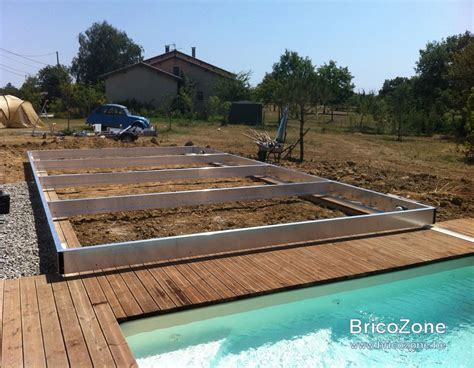 mobile terrasse pool construction d une terrasse mobile au dessus d une piscine