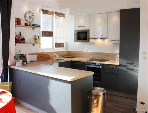 deco cuisine blanc et bois cuisine moderne blanc et bois