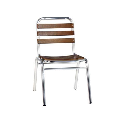 chaise de bar exterieur chaise terrasse aluminium bois chaise aluminium bois