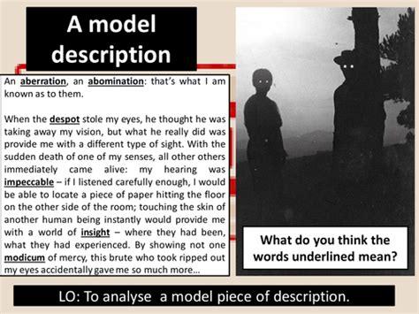 aqa gcse english language paper  question  model creative responses teaching resources