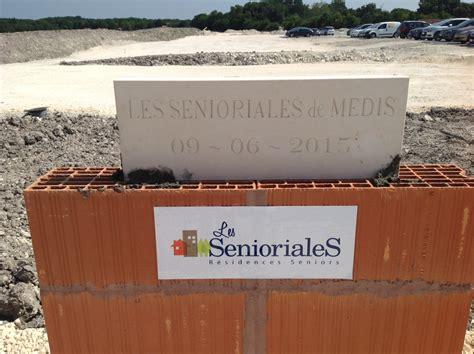 foto de La première pierre des Senioriales de Médis Blog Senioriales