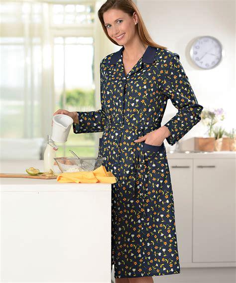 faire un tablier de cuisine robe manches longues imprimée de fleurs multicolores