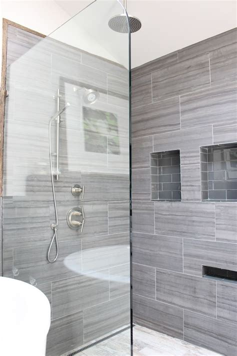 Bathroom Tile Shower Design by 30 Grey Shower Tile Ideas And Pictures