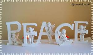 peace letters cherub plaque mystic wish With peace letters