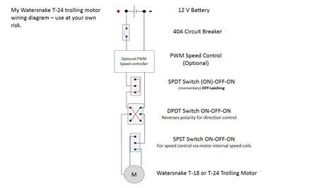 watersnake trolling motor wiring diagram