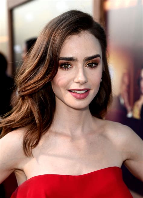 lily collins long wavy cut lily collins hair looks