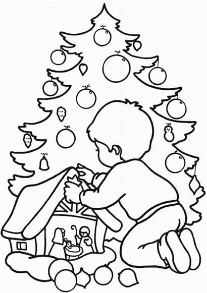 Coloring Christmas Printable Pages Popular