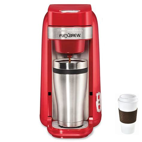 The machine has a single serve option which lets you make a perfectly measured cup. Hamilton Beach Single-Serve Coffee Maker, FlexBrew Red ...