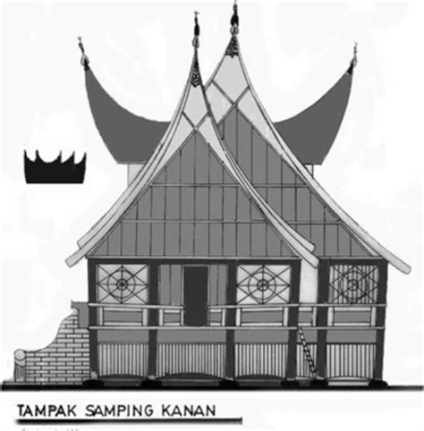 sketsa gambar rumah adat riau rumah adat indonesia
